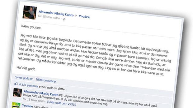 Opsigelse af tv-abonnement storhitter på Facebook | Indland | DR