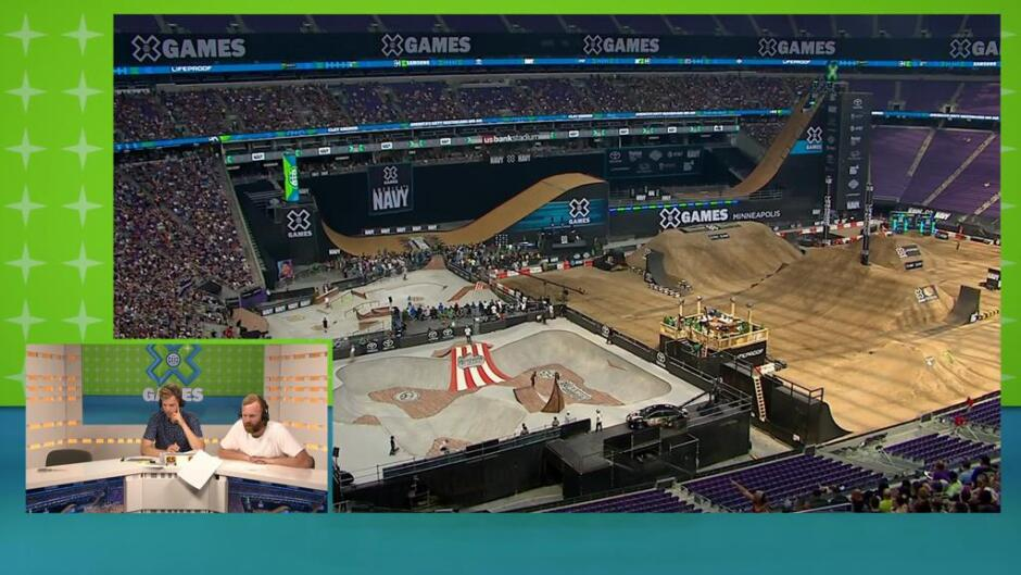 X Games Minneapolis: Moto X Step Up finale 2:2 og Skateboard Big Air finale (m), direkte