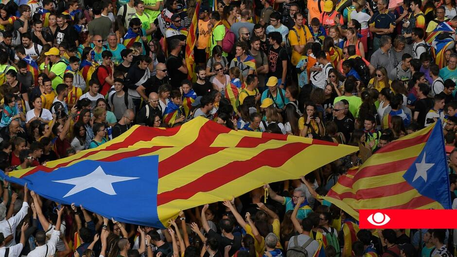 TV AVISEN 18.30 - STORE DEMONSTRATIONER LAMMER BARCELONA