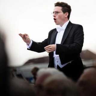 Magnus Larsson foran Malmö Symfoniorkester til afslutningen på Copenhagen Opera Festival 2016.