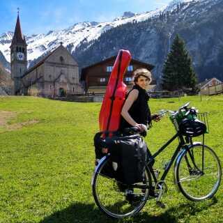 Idas 1.000 kilometer lange cykeltur startede i 2.000 meters højde i Alperne. Hun er blandt andet kommet gennem Lichtenstein og har set Bodensøen.