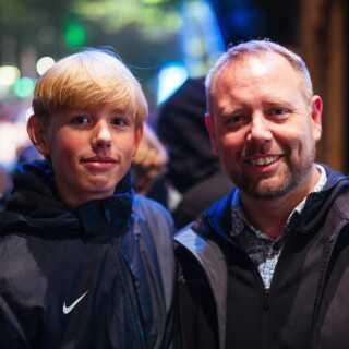 14-årige Asger Randrup Skaaning brugte koncerten i selskab med sin far Martin, som også havde skaffet sønnen adgang til festivalen.