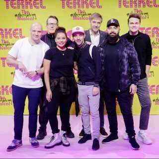 Holdet til musicalen: Clemens, Thomas Bo Larsen, Lea Thiim Harder, Joel Hyrland, Martin Brygmann, Hadi Ka-Koush og Ruben Søltoft.