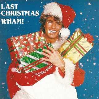 George Michael ses her på coveret til 'Last Christmas'. I dag er den blevet solgt i over to millioner eksemplarer i Storbritannien.