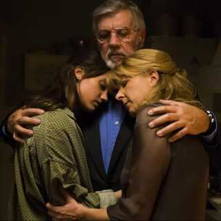Danica Curcic vandt både en Robert og en Bodil for sin præstation i Bille Augusts drama om aktiv dødshjælp, 'Stille hjerte', fra 2014. Her ses hun sammen med Paprika Steen og Morten Grunwald.
