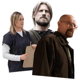 Dine venner på skærmen kan gøre mere end bare at underholde, mener en dansk psykolog. Her er det fra 'Orange is the New Black' (Netflix), 'Game of Thrones' (HBO) og 'Breaking Bad' (Sony Pictures Television).