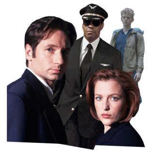 Den amerikanske psykoterapeut inddrager både serier som 'X Files' og 'The Rain' og filmen 'Flight' i sin terapi. (Foto: Fox, Paramount Pictures, Netflix)