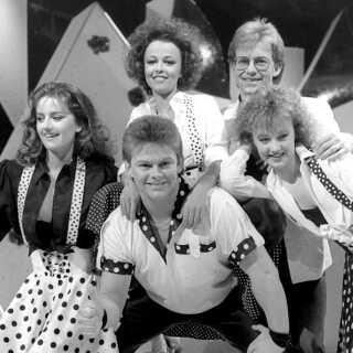 En ung Stig Rossen i Dansk Melodi Grand Prix 1988.