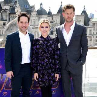 Paul Rudd, Scarlett Johansson og Chris Hemsworth får taget billeder i forbindelse med 'Avengers: Endgame', hvor de alle tre medvirker. Filmen får dansk premiere 24. april.