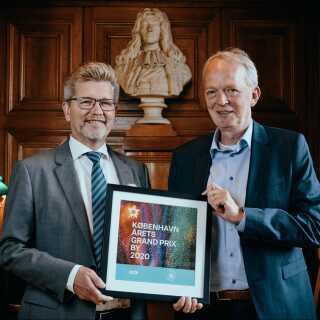 Overborgmester Frank Jensen (til venstre) med DR's direktør for Kultur, Børn & Unge, Henrik Bo Nielsen.