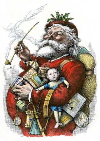 Santa Claus i Thomas Nasts tykke, røde udgave.