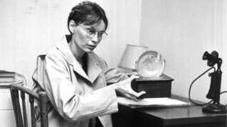 Mia Farrow i Zelig -  den første film, hun indspilledemed Woody Allen.