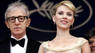 Scarlett Johansson og Woody Allen ved filmfestivalen i Cannes 2005.