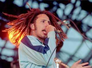 Zack de la Rocha fra Rage Against The Machine på Midtfyns Festival i 1994.