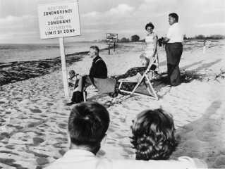 Stand ved grænsen mellem Øst- og Vesttyskland,1958.