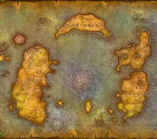 Et kort over spilverdenen i 'World of Warcraft': Azeroth.