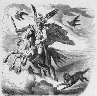 Odin på sin flyvende hest, Sleipner.