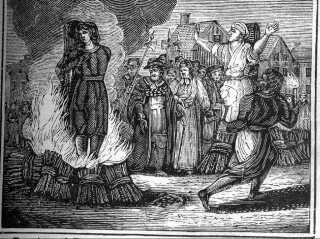At blive brændt på bålet var blandt de straffe, man kunne blive dømt til, hvis man blev dømt for kætteri.