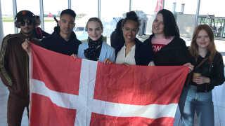 Det danske Eurovision-hold anno 2019. Fra venstre: Sinan Spahi, Ryan Jacolbe, Leonora, Sofie Niebuhr McQueen, Jeanette Bonde og Andrea Heick Gadeberg.