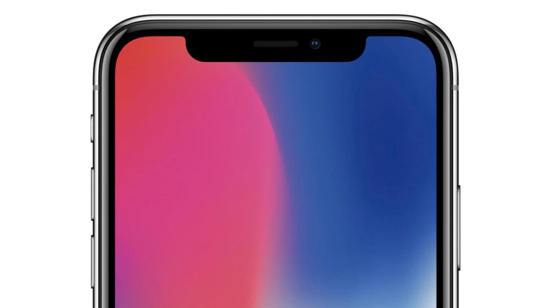 Her ses iPhone X der blev berømt og berygtet for det såkaldte notch - den sorte udskæring, der huser kameraet.