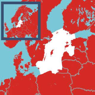 Forskerne har undersøgt den del af Østersøen, der er markeret med hvid.