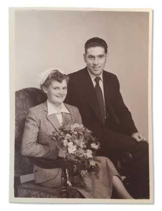 Børge blev gift i 1954. Da var han 23 år gammel.