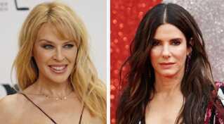 Her er to af de kvinder, som brugere på blandt andet Twitter deler flittigt i disse dage efter Yann Moix' udtalelse: 50-årige Kylie Minogue og 54-årige Sandra Bullock.