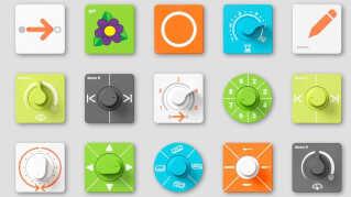 Et udvalg af de pucks, der eksekverer computerkoden.