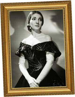 Maria Callas som Violetta i 'La Traviata' 1958.