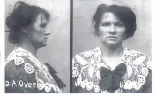 Billederne der blev taget af Dagmar Overbye, da hun blev anholdt, er nogle af de få, der findes af hende.