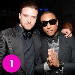 Pharrell Williams sammen med Justin Timberlake.