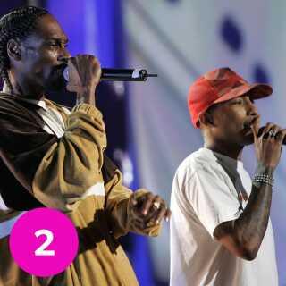 Pharrell Williams har arbejdet sammen med Snoop Dogg på adskillige numre.
