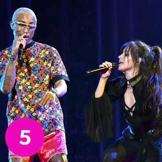 Pharrell Williams var en af sangskriverne på Camila Cabellos verdenshit 'Havana'. Nu er de to aktuelle sammen på singlen 'Sangria Wine'.
