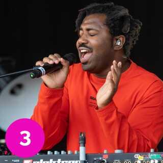 Sampha. Billedet her stammer fra hans koncert på Parklife Festival i Manchester i juni.
