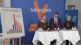 Pressemøde i Venstres gruppeværelse med udlændinge- og integrationsminister Inger Støjberg, beskæftigelsesminister Troels Lund Poulsen og udviklingsminister Ulla Tørnæs.