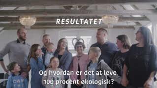 Screendump af Danmarks Naturfredningsforenings kampagnevideo, hvor de undersøger familier, der lever først kun køber konventionelt dyrket mad og derefter udelukkende økologisk, for at se, hvad der sker med mængden og antallet af pesticidrester i deres urin.