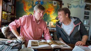 Troels Kløvedal sammen med sønnen Mikkel Beha Erichsen, som han fik sammen med kæresten Marianne Kjær.