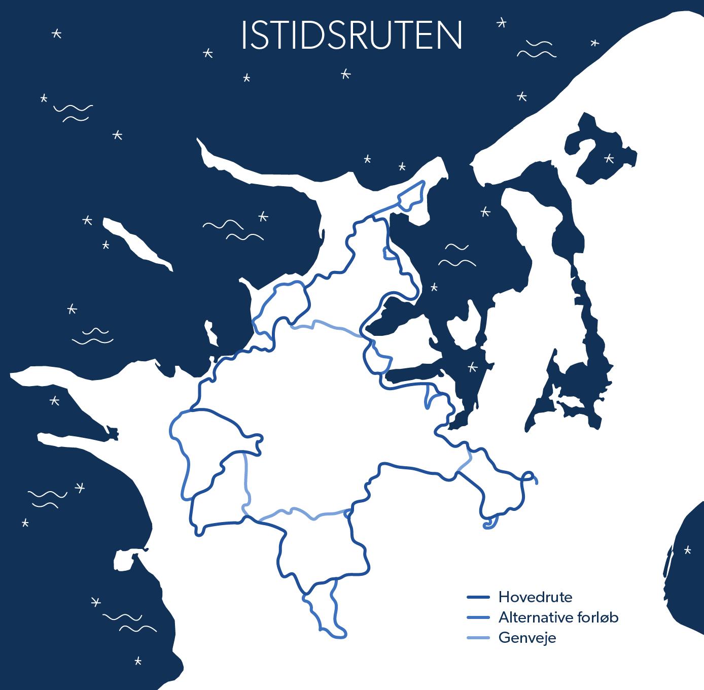 """Istidsruten kommer til at gå fra Odsherred i nord til Sorø i syd. Der bliver lagt små lokale """"sløjfer"""" ind i ruten, hvis der er en interessant lokal oplevelse."""