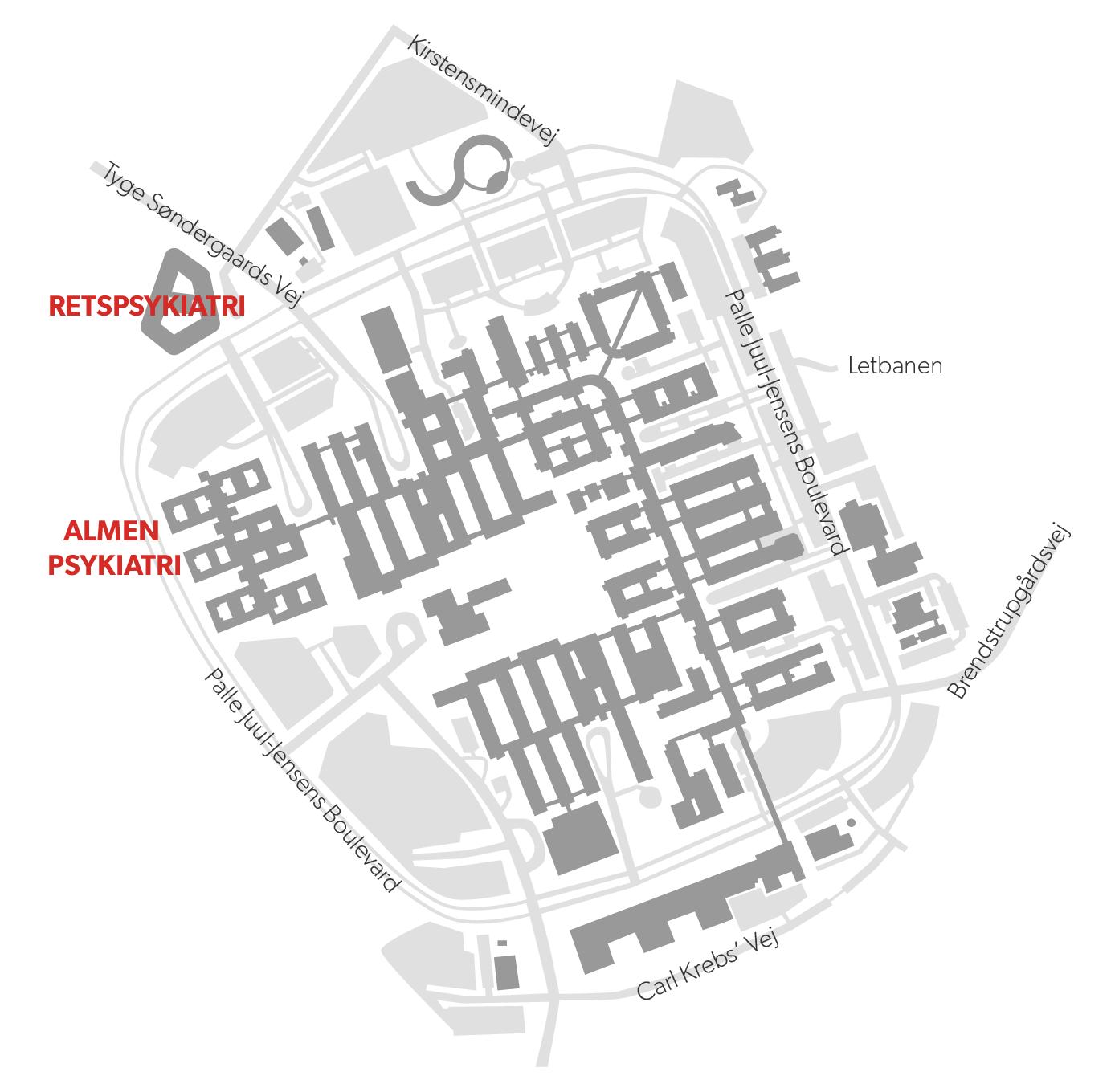 Psykiatrien, og derunder også retspsykiatrien, flyttede til Skejby i november og blev en del af det øvrige sygehus.