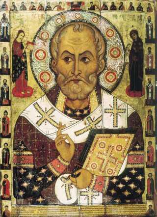 Ikon af Sankt Nikolaus fra 1294.