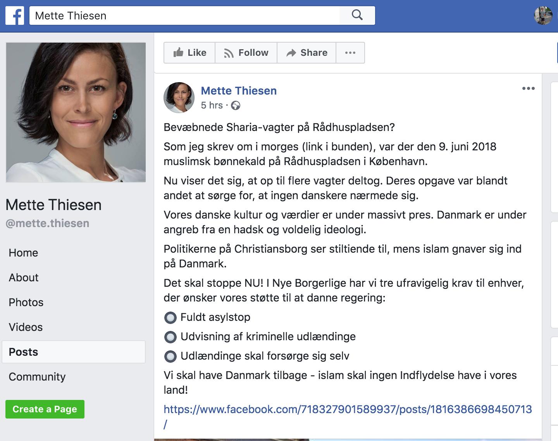 Mette Thiesen redigerede opslaget, som ses herover.