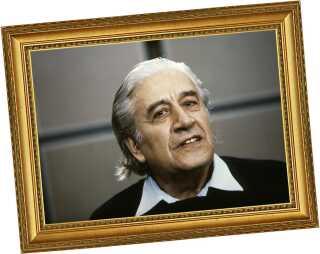 En ældre maestro: Celibidache fotograferet i 1980'erne.