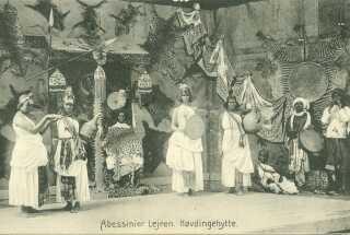 Eksempel på udstilling af fremmed kultur cirka år 1900.
