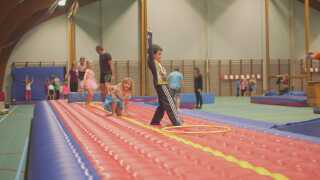 Vasileios Maniatis' familie er faldet godt til i Danmark. Her er sønnen Alexis til gymnastik.