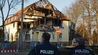 NSU's udbombede opholdssted i byen Zwickau.