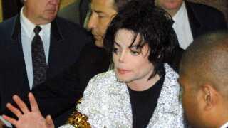 Billedet her er fra 2001, hvor Michael Jackson gav koncerter i New York City.