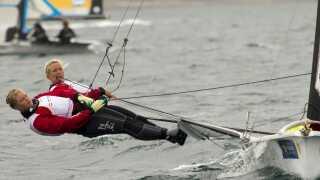 Jena Mai Hansen og Katja Salskov-Iversen kæmpede sig til en flot placering til trods for en tidlig tur i baljen ved VM i amerikanske Clearwater.
