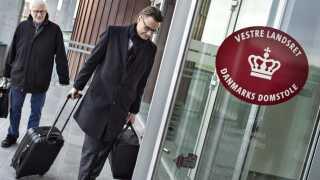 Vestre Landsret i Viborg behandler i disse dage en sag om swap-lån mellem Jyske Bank og Engskoven Andelsboligforening i Skødstrup. Her advokat for Engskoven Andelsboligforening : Thomas Schioldan, med talsmand Lund Poulsen