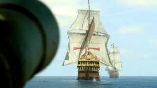 Spansk krigsskib angribes i ryggen - det svageste punkt.