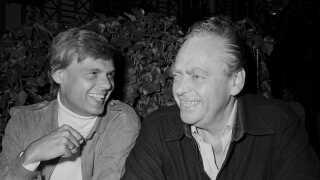 Ulf Pilgaard med sin kollega og ven Dirch Passer i 1979. De to optrådte sammen flere gange.